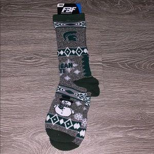Accessories - Michigan State Snowman Socks